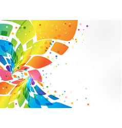 Abstract background colorful element on white vector