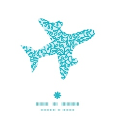 Abstract underwater plants airplane silhouette vector