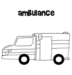Ambulance of art vector
