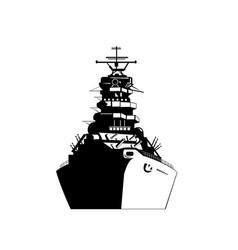 american or united sates battleship warship vector image