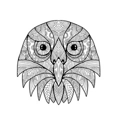 Australian barking owl mandala vector