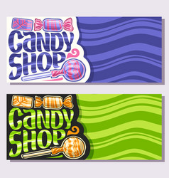 Banners for candy shop vector