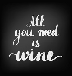 Beautiful quotes about wine vector