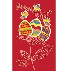 bird eggs vector image