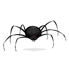 Black cartoon spider vector