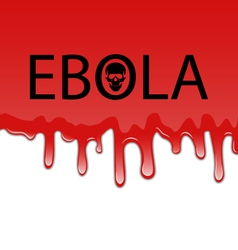 Bloody background with Ebola virus vector