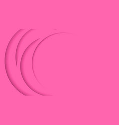 bright pink stacked circle background vector image