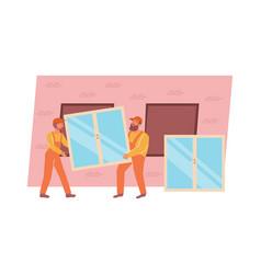 builders flat vector image