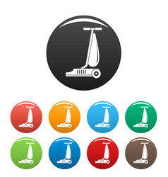 commercial vacuum cleaner icons set color vector image