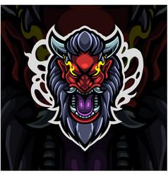 devil head esport mascot logo vector image
