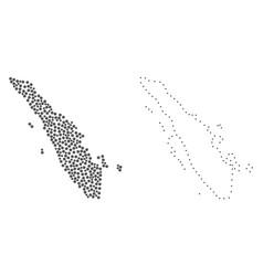 Dot contour map of sumatra island vector