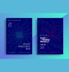 Electronic music poster design or sound flyer vector