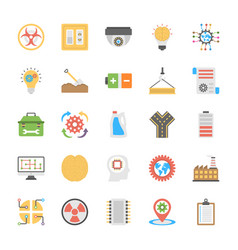 engineering flat icons pack vector image
