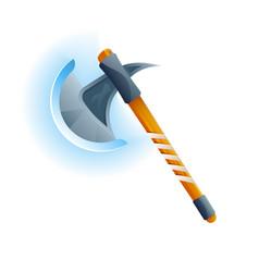 Fantasy medieval hatchet icon vector