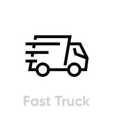 fast delivery truck icon shipping truck vector image