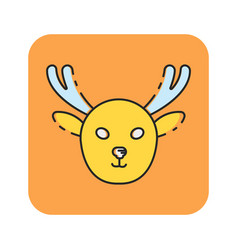 Flat color moose icon vector