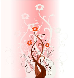 Floral fantasy background vector