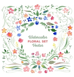 Floral set - watercolor vector