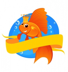 goldfish and banner vector image vector image