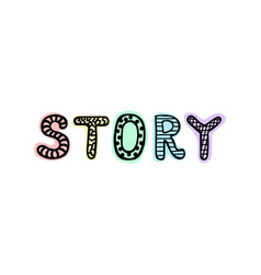 graphic logo icon story vector image