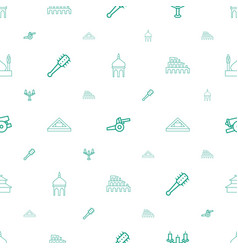 Historic icons pattern seamless white background vector