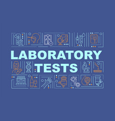 laboratory tests word concepts banner vector image