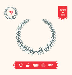 laurel wreath - elegant symbol for yor design vector image