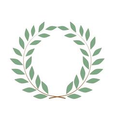 laurel wreath olive reward on white background vector image