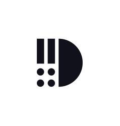 logo letter d black and white vector image