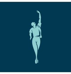 Man dancing ballet sign vector image