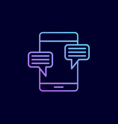 mobile phone chat message vector image