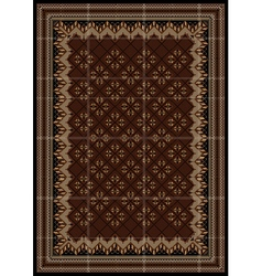 Motley rug in maroon and brown shades vector image vector image
