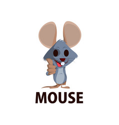 mouse thump up mascot character logo icon vector image