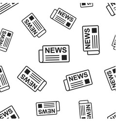 newspaper news seamless pattern background vector image