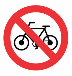 no bicycle traffic sign vector image