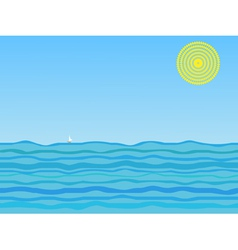 of a sail on a sunny day vector image