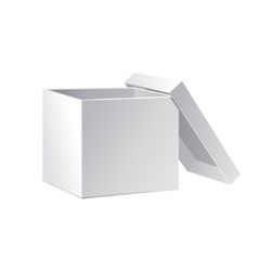 Open White Cardboard Carton Gift Box With Lid vector