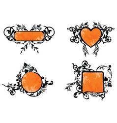 Orange banner vector