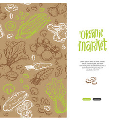 Organic market kit vector