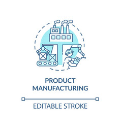 product manufacturing turquoise concept icon vector image