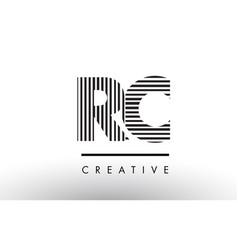Rc r c black and white lines letter logo design vector