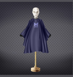 Realistic hairdresser apron cape on vector