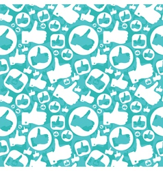 Seamless pattern with like signs vector