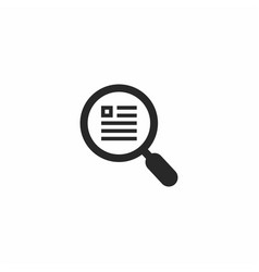 Search document logo template vector