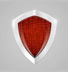 security digital shield concept web security or vector image