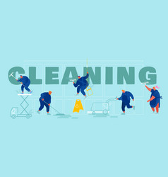 service professional cleaners concept male and vector image
