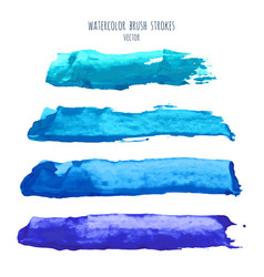 set of navy blue watercolor backgrounds vector image