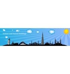Silhouette Famous buildings vector image