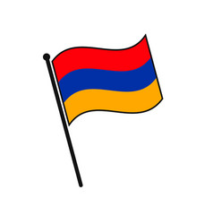Simple flag icon vector