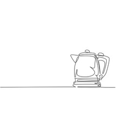 single continuous line drawing of vector image